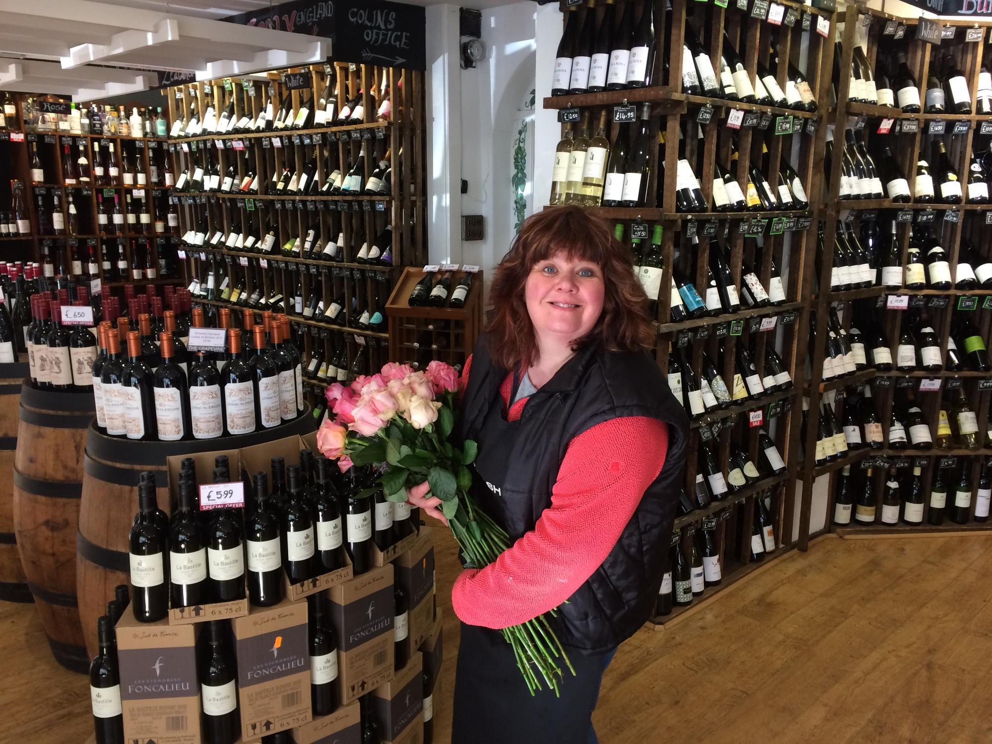 Florist, flowers, wine merchant