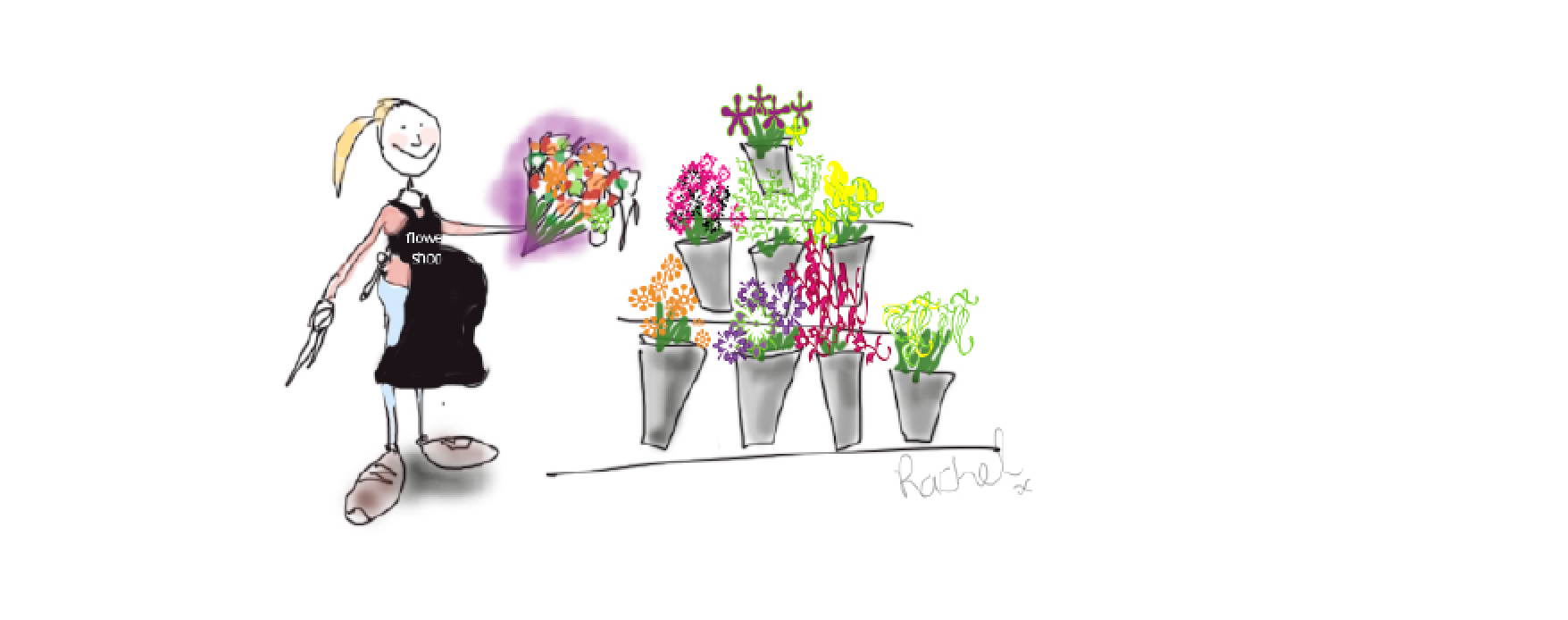 Florist cartoon